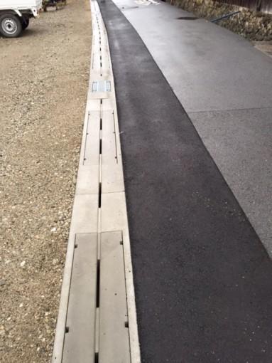錦織4号線の道路改良工事が完成