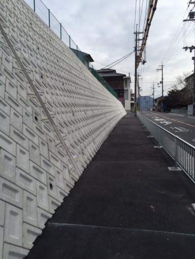 別井両町会念願の「通学路歩道設置工事」が完成
