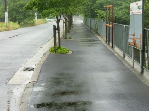 山手町にいたる歩道を舗装・整備し、お年寄りも安心して通行できるように。